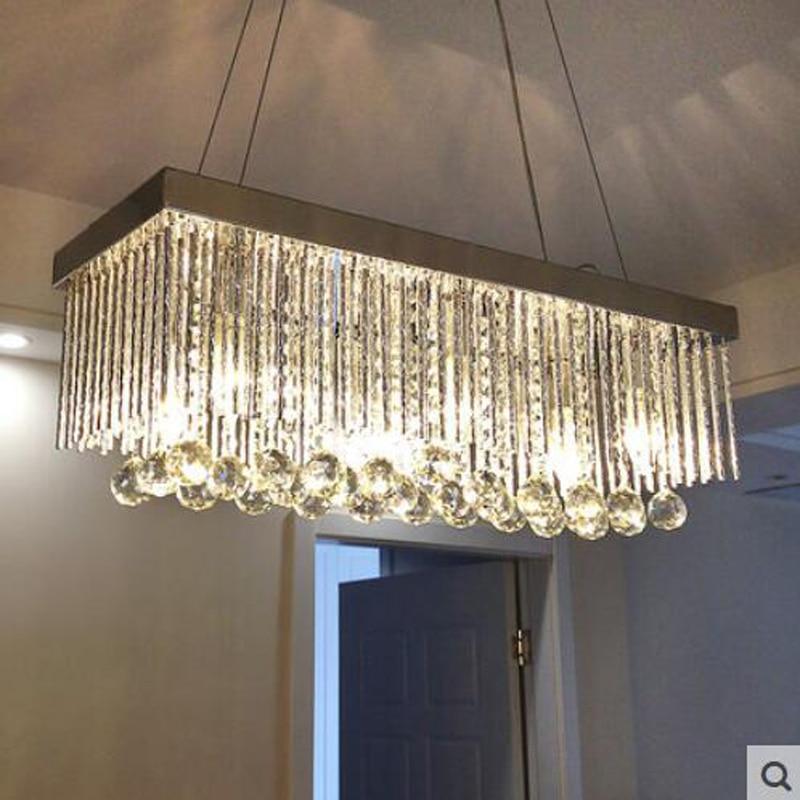 T luxe cristal pendentif lumière salle à manger Restaurant salon Hall couloir allée Bar ampoule LED inclus vente chaude