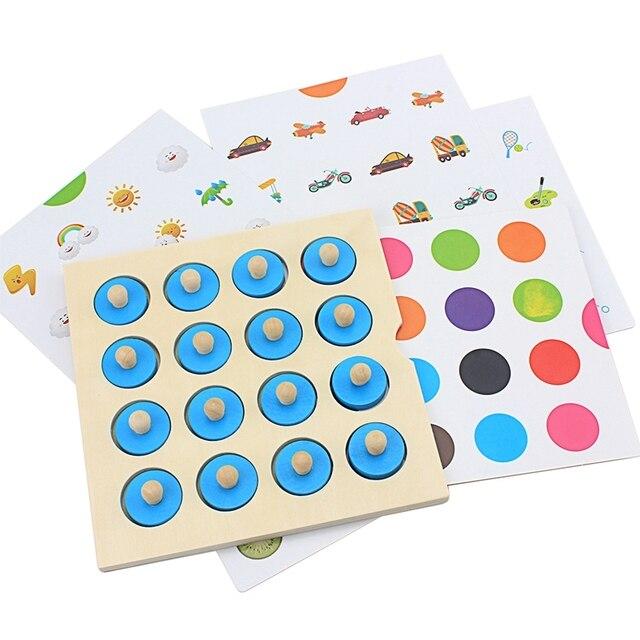 Çocuklar Ahşap Bulmaca Oyuncak Hafıza Maç Satranç Oyunu Mavi Bellek Satranç Çocuk Erken Eğitim Aile Partisi Masa Oyunu Çocuklar için