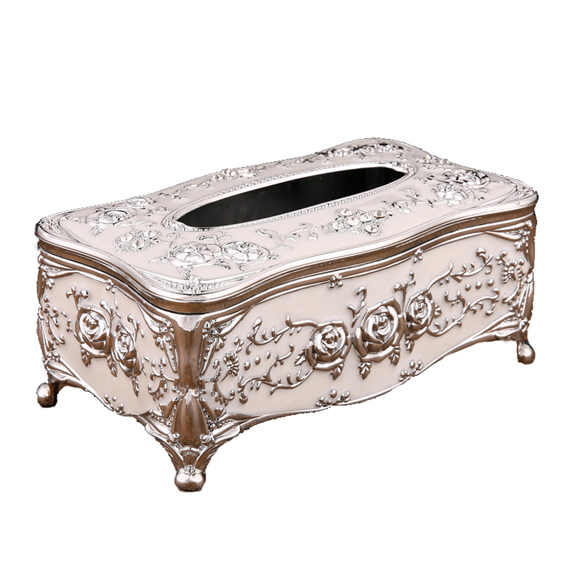European style high grade luxury plastic tissue box KTV pumping paper