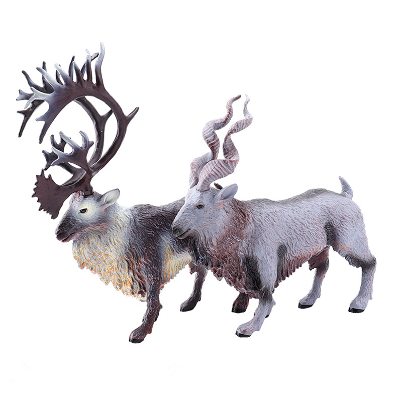 New Christmas Elk Model Solid Wild Animal Model Toy Reindeer Goat Decoration Exhibits