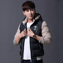 2016 new autumn and winter thick hooded coat jacket male Korean Slim Down padded  male tide A026