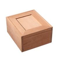 Luxury Pura Madeira SEM Pintura Cedar Wood Cigar Humidor Nice Storage Box Log Cigar Alcoholize Box