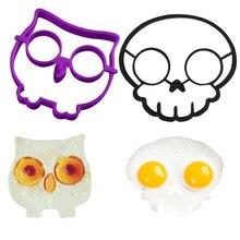 Moule à œufs en forme de crâne de chats | Accessoires de cuisson, moule à œufs en Silicone, petits déjeuners œufs frits gabarit Gadgets de cuisine
