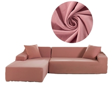 PORSIA 2PCS Pink Sectional Sofa Covers Sofa Slipcovers