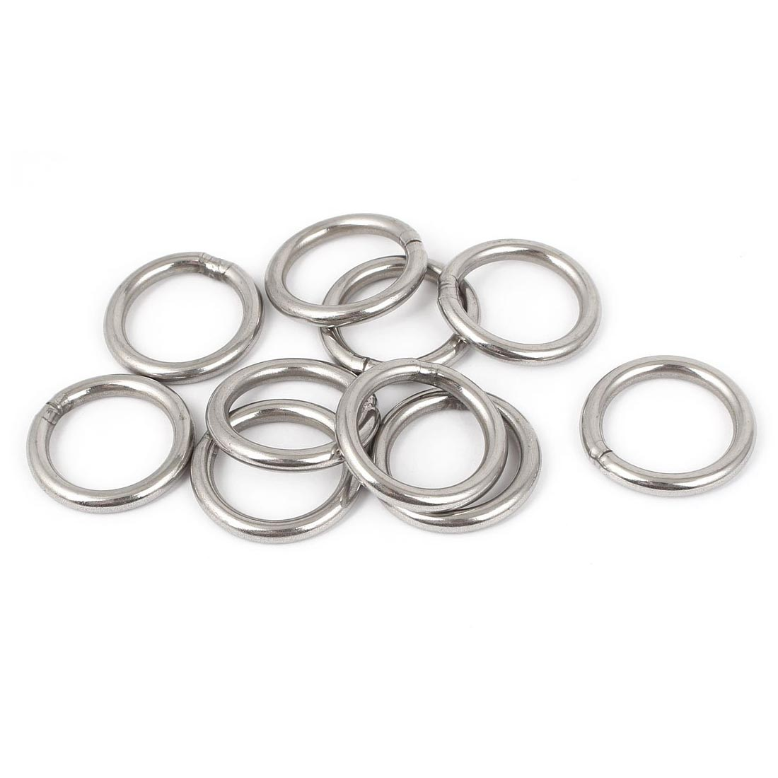 10 Pcs M4 X 30mm Smooth Welded Precision Polished Stainless Steel Strapping Welded Round O Rings For Boat Applications