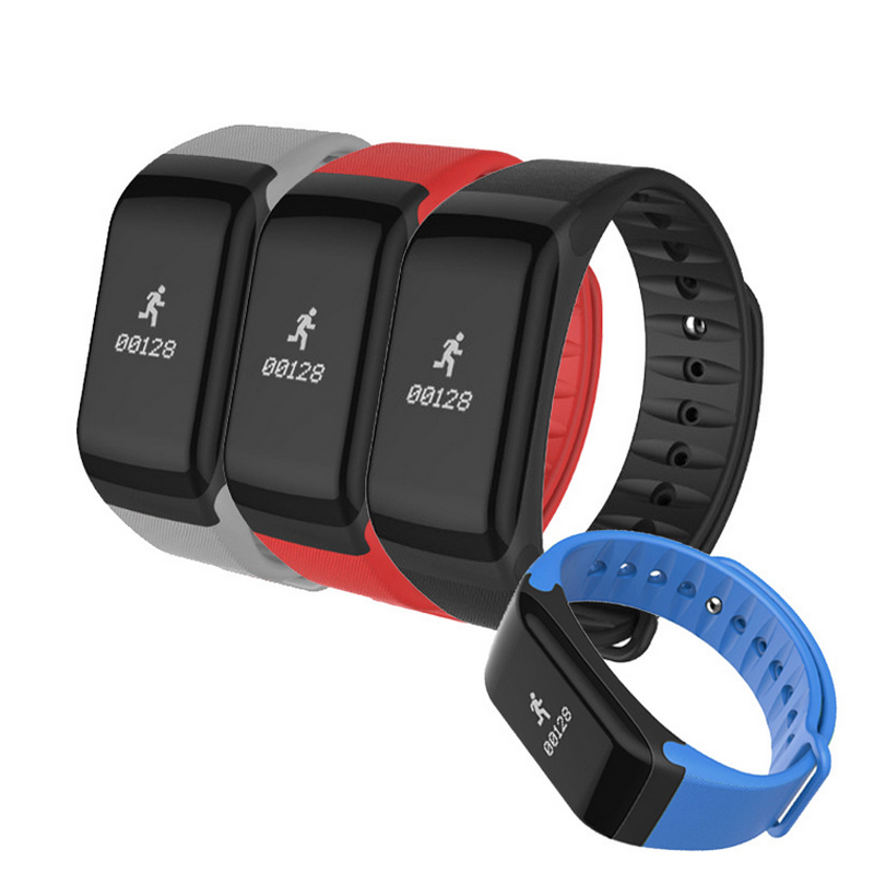 F1 Smart Fitness Wristbands With Blood Pressure Heart rate Blood Oxygen Sleep Tracker Support Bluetooth Remote