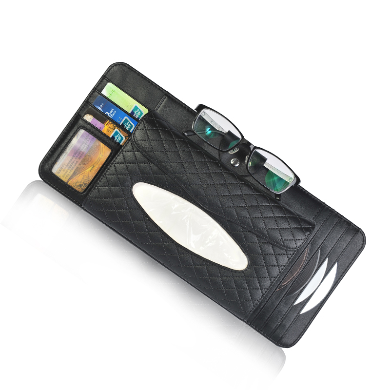 sun visor storage pouch bag for card cell phone pen