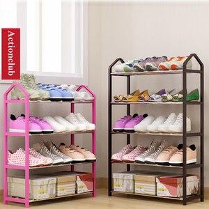 Image 2 - Actionclub シンプルな多層金属鉄靴棚学生寮の靴収納ラック DIY 靴キャビネット家庭用家具