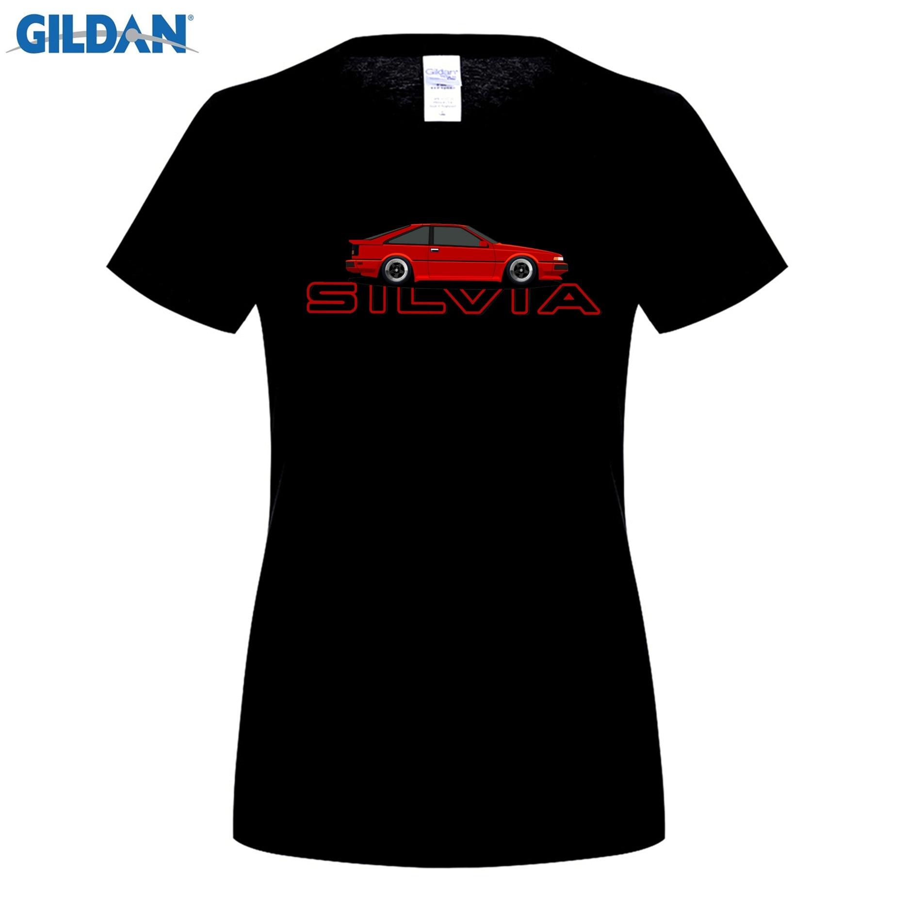 GILDAN Silvia S12 T-Shirt 100% Cotton Car Printed T-Shirt Short Sleeve Shirt Tee Funny Tee gril Youth Gift