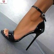Original Intention Stylish Women Sandals Patent Peep Toe Thi