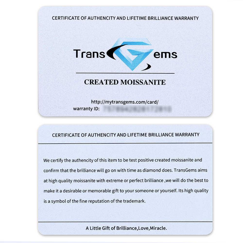TransGems 1 ชิ้น 6.5 มม. สีฟ้าเล็กน้อย Moissanite หลวมหินเทียบเท่าน้ำหนักเพชร 1ct Moissanite Diamond สำหรับเครื่องประดับทำ