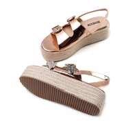 高ウェッジサンダルビーチ靴 Sandalias ビーチサンダルハイヒールピープトウバックル厚底靴の女性の靴