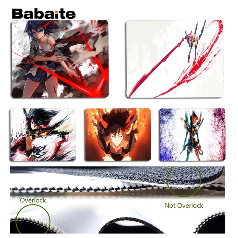 Babaite Cool Fashion KILL la KILL Customized laptop Gaming mouse pad Size for 180x220x2mm and 250x290x2mm Design Mouse Pad