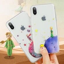 Karikatür Küçük Prens dünya uzay iPhone için kılıf 7 Artı 8 6 s 6 s iPhone Xs Için Max XR iPhone X 4 4 S 5 5 S SE 5C