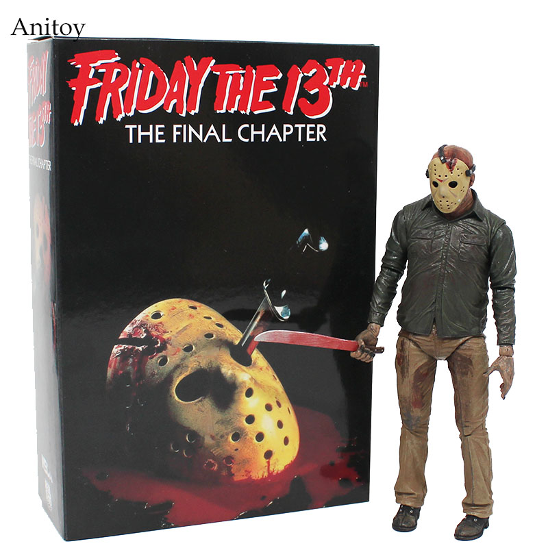 NECA Friday the 13th The Final Chapter Jason Voorhees PVC Figure Collectible Toy 18cm KT4069 neca friday the 13th the final chapter jason voorhees pvc action figure collectible model toy 7inch 18cm