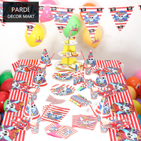 The Pirate Theme kids Party Pack supplies birthday party decoration fashion party supplies 1set/lot