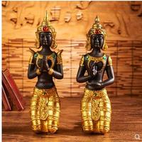 Southeast Asia Decoration, Thailand kneeling Buddha, creative gifts opening study living room home decoration crafts