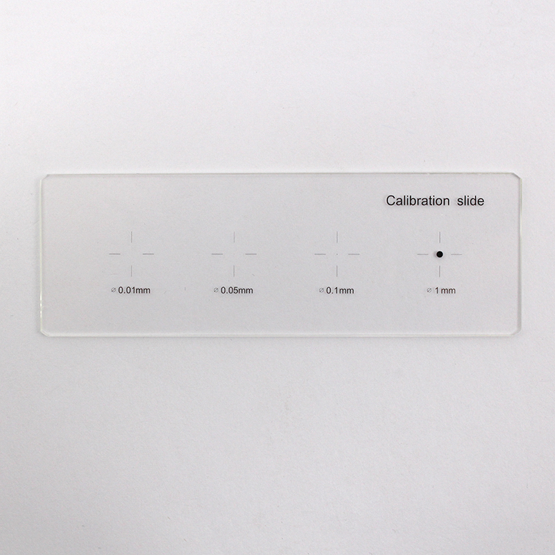 Microscope Stage Micrometer Microscope Calibration Ruler Target Slides with Diameter 0.01 mm 0.05 mm 0.1 mm 1 mm 4 Dots