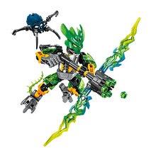 купить XSZ 706-1 BionicleMask of Light Children's Protector of Jungle Bionicle Building Block Brick Compatible With 70778 Toys по цене 322.07 рублей