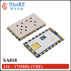 Image 5 - 2 adet/grup SA818 Yeni Nesil RDA1846S Çip VHF 134 ~ 174 MHz/UHF 400 480 MHz 1 W 30dBm Analog Walkie Talkie Modülü