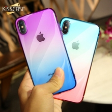 KISSCASE Soft TPU Silicone Phone Case For Samsung Galaxy S7 Edge S8 S9 Plus Gradient Color J3 J5 2016 Note 9