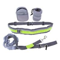 Puppy Dog Running Padded Waist Reflective Strip Elastic Leash Jogging Walking Training Pets Supplies Dogs Products