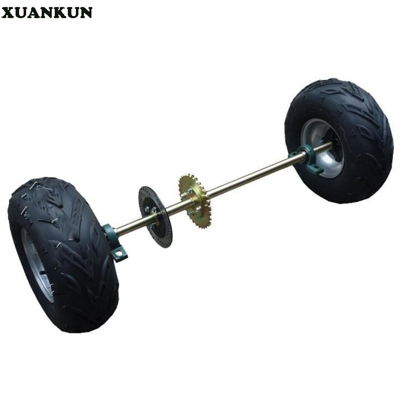 XUANKUN  Modified Four-Wheeled Motorcycle Beach Car Kart Rear Axle Rear Axle Assembly 16X8-7 Inch Tire Chain Disc Brake Disc