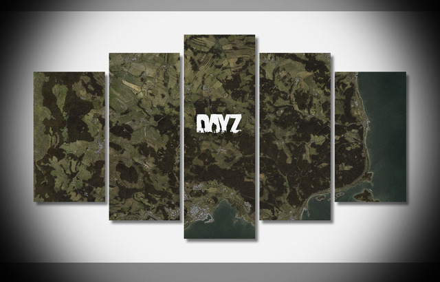 7405 dayz map Poster Framed Gallery wrap art print home wall decor Dayz Map Size on