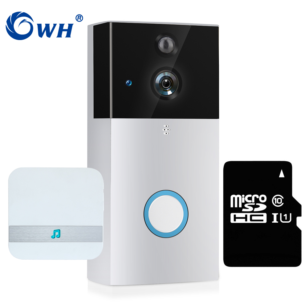 CWH 720P Wireless Doorbell Door Video Intercom Camera WiFi With Dingdong SD Card Recording Support Battery Powered