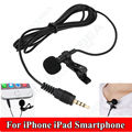 Free shipping! Clip-on Lapel Mini Lavalier Mic Microphone For ios SmartPhones Recording PC