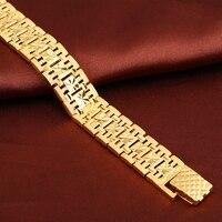Męska Bransoletka Złoty Wypełniony Chunky Chain Link Bransoletki Na Rękę Grube Biżuteria Mężczyzna Prezent Rzeźbione Akcesoria Gwiazdkowe Darmowa