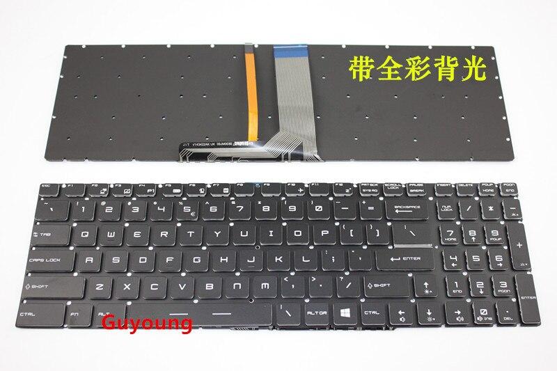 Ordinateur portable Rétro-Éclairé Clavier AMÉRICAIN pour Clavier d'ordinateur portable MSI MS-16K2 MS-16L2 MS-16JB MS-179B MS-1796 MS-1799 MS-16J9 MS-1792 MS-1791 MS-1795 MS-179B