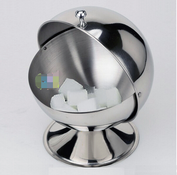 sugar bowl Spherical stainless steel kitchen seasoning bottle flip cup sugar paste