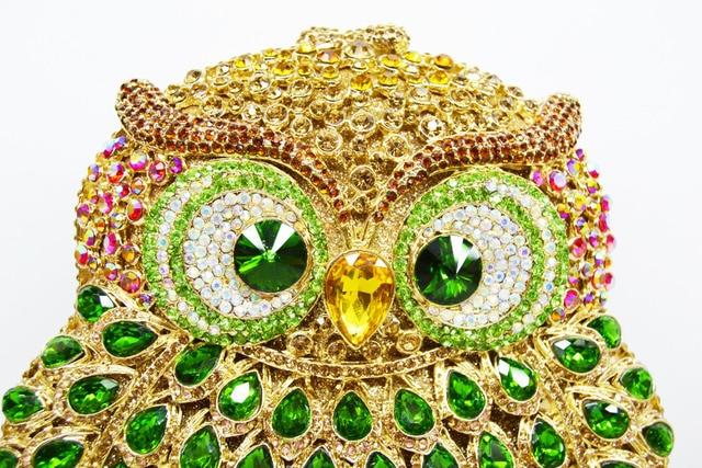 Braccialini Owl Handmade Crystal Clutch