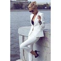 Kadınlar Pant Suit Kadın İş kıyafetleri El Terzi Kadınlar Bayanlar Custom Made Iş Ofis Smokin Iş Elbisesi Takım Elbise