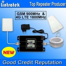 NUEVA Pantalla LCD 4G LTE Amplificador de Señal Lintratek 1800 MHz GSM 900 MHz Repetidor de Señal 2G 4G 1800 MHz Teléfono Móvil Amplificador de la Señal