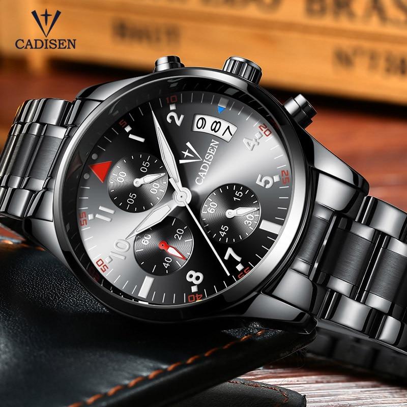 Cadisen Horloge Herenmode Sport Quartz Horloges Topmerk Luxe Volledig - Herenhorloges - Foto 4