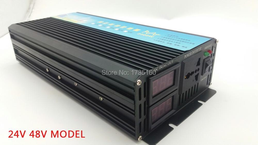 Pura Onda senoidal inversor 2500 w Onda Sinusoidale Pura Power Inverter 2500 Watt Convertitore 12 v/24 v/ 48VDC a 220 v AC 5000 Watt di Picco