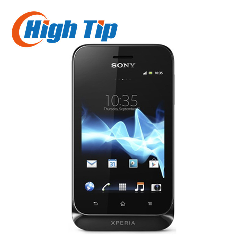Цена за Оригинальный разблокирована sony xperia tipo st21i st21 сотовый телефон 5mp wifi gps гарантия один год после капремонта freeshipping