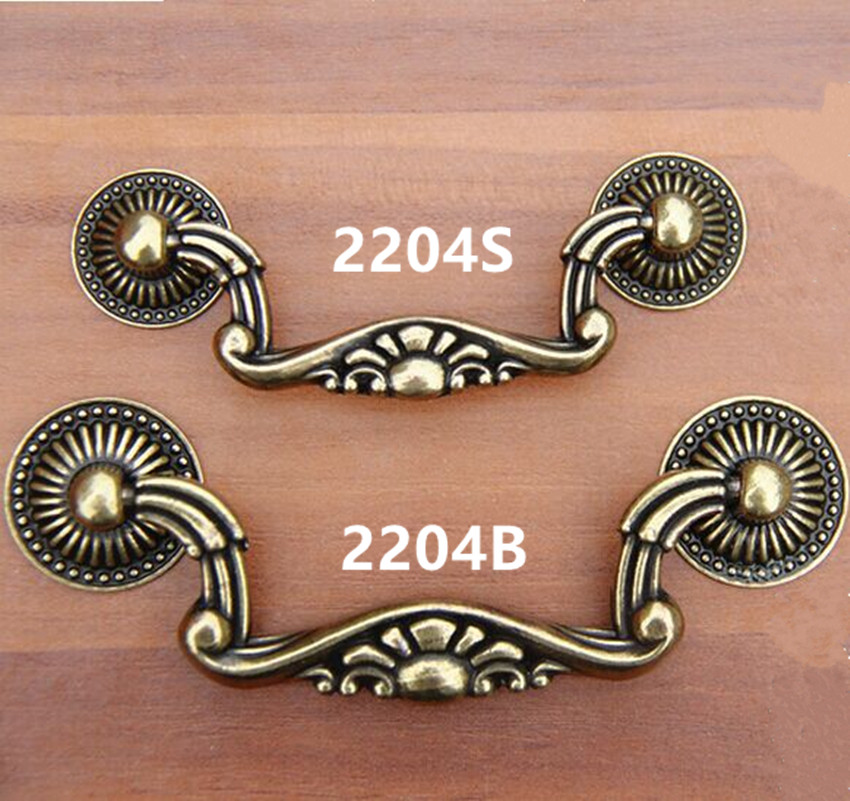 76mm 96mm vintage style retro furniture handles shaky rings bronze drawer cabinet pulls knobs bronze dresser door handles 3 claw of dragon style rings golden bronze 3 pcs
