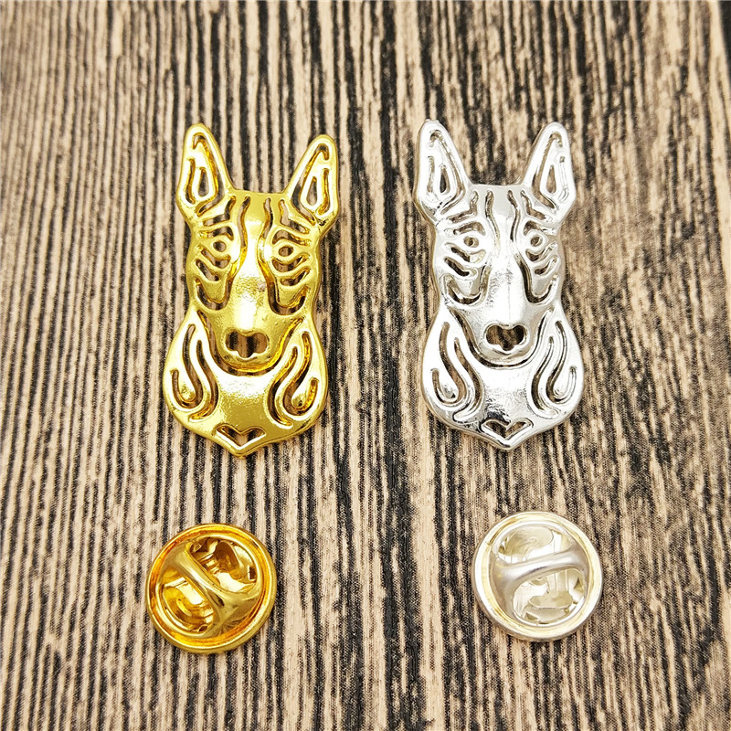 LPHZQH wholesale trendy pet Bull Terrier dog Broches and pins Collar Pin Jewelery Clothing Accessories Men's Gift