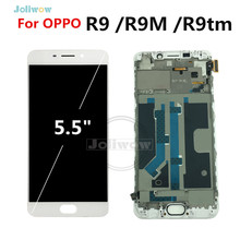 White For OPPO R9 LCD R9m R9tm X9009 Full CD Display Touch Screen Digitizer Replacement Assembly for oppo r9 5.5