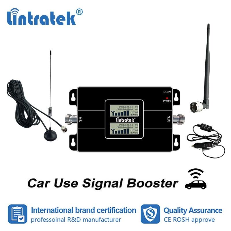 Lintratek voiture utiliser 2G GSM 900 3G 2100 MHz amplificateur de Signal de téléphone portable GSM WCDMA amplificateur de Signal 900 2100 répéteur de téléphone portable s4