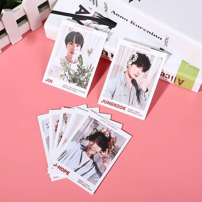 7 шт./компл. Новый KPOP BTS Bangtan мальчики любят себя альбом Фотокарта бумажные карточки самодельный ЛОМО карта Фотокарта