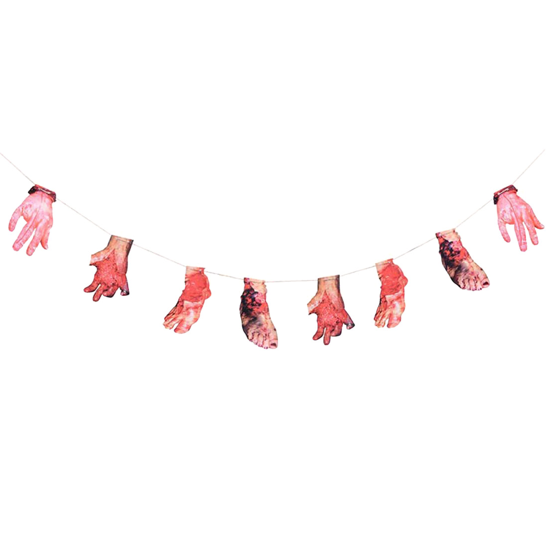 1pc Horror Halloween Blood Hand Foot Halloween Party Scary