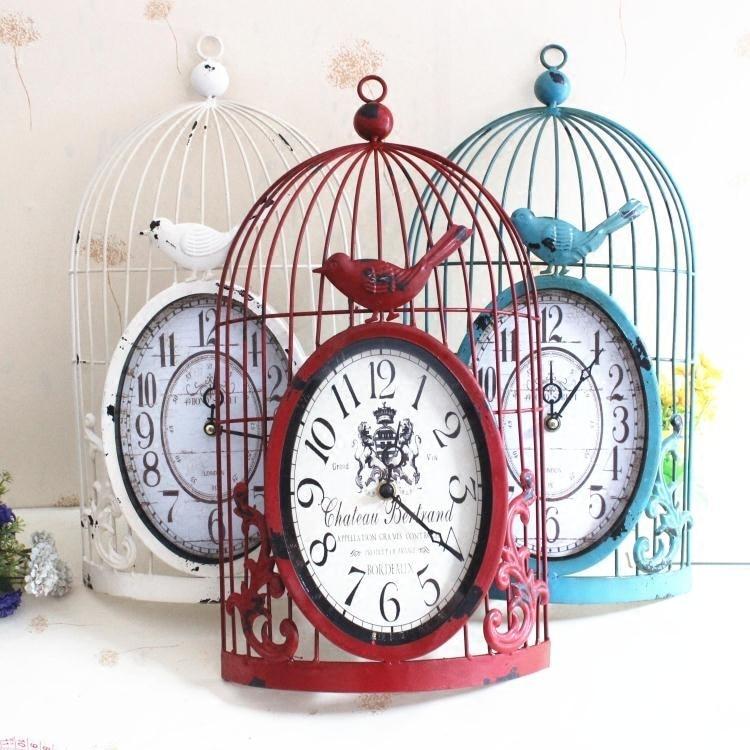 large decor wall clock vintage retro home design grande. Black Bedroom Furniture Sets. Home Design Ideas