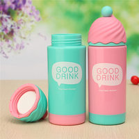 200ml 4 Colors Cute Ice Cream Modeling Double Wall Plastic Cup Thermoses Mug Thermal Bottle Thermocup