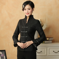 Chinese Traditional Costume Women's Linen Jacket Coat Size: M 3XL
