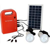 Portable Large Capacity Solar Power Bank Panel 2 LED Lamp USB Cable Battery Charger Emergency Lighting