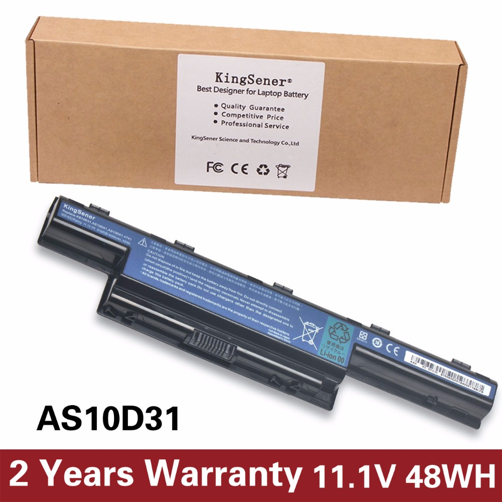 KingSener AS10D31 Laptop Battery For Acer V3-471G V3-551G V3-571G V3-771G E1-421 E1-431 E1-471 E1-531 AS10D41 AS10D3E AS10D5E weidefusiyuan laptop sata converter adapter hdd connector socket for acer e1 421 e1 431 e1 431g e1 471g ec 471g v3 471g